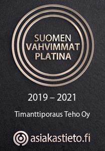 Suomen vahvimmat Platina Timanttiporaus Teho Oy